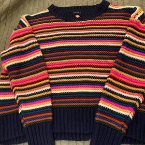 Chunky Knit Sweater w/Rose bow